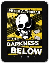 Thriller book cover design: The Darkness Below