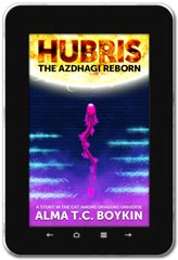 Sci-Fi book cover design: Hubris