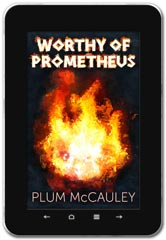 Fantasy / Sci-fi book cover design: Worthy of Prometheus