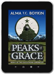 Alternate History book cover design: Peaks of Grace