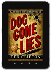 Mystery book cover design: Dog Gone Lies