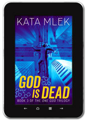 Thriller book cover design: God is Dead
