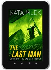 Thriller book cover design: The Last Man