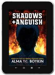 Sci-fi book cover design: Shadows and Anguish