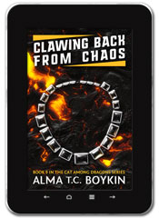 Sci-fi book cover design: Clawing Back from Chaos